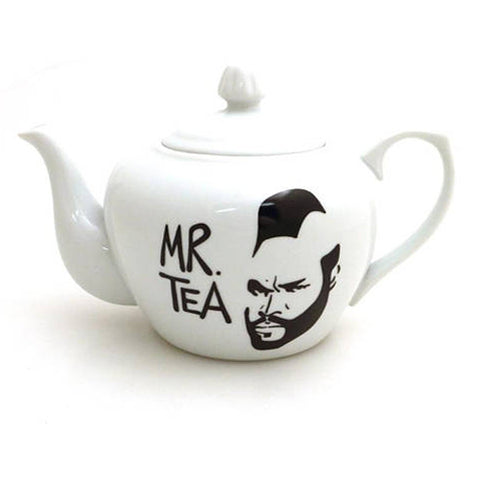 Mr. Tea White Stoneware Teapot