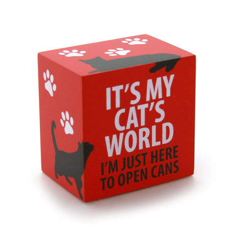 A Cat's World Block Plaque