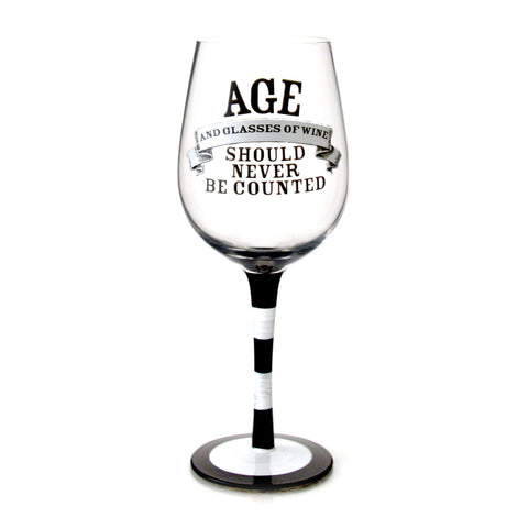 Age & Wine Counting Glass Goblet