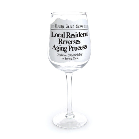 Aging Process Wine Goblet