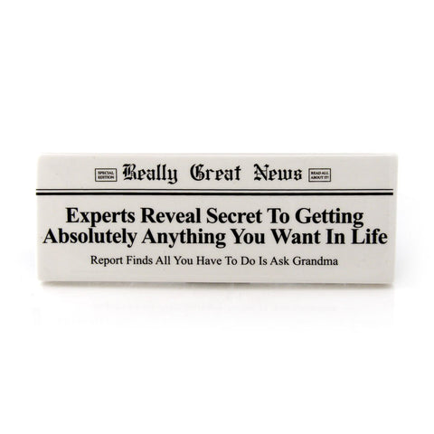 Ask Grandma Plaque RGN