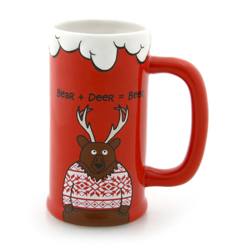 Bear-Deer Beer Stein
