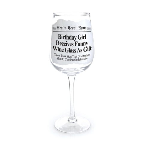Birthday Girl Wine Goblet