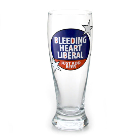 Bleeding Heart Liberal Glass Pilsner