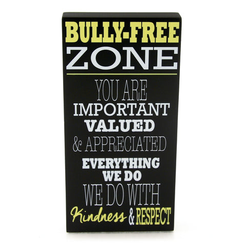Bully-Free Zone Plaque