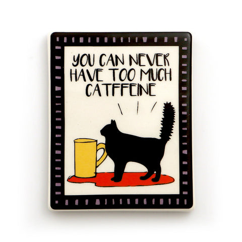 Cat Coffee Magnet