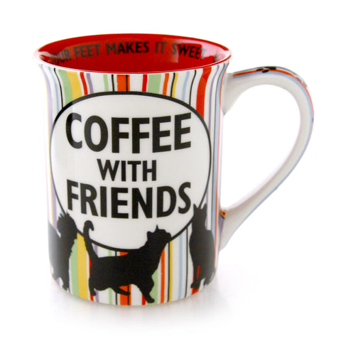 Cat Hair and Coffee With Friends Mug