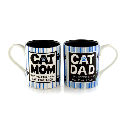 Cat Mom Cat Dad Mugset