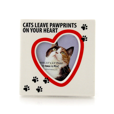 Cat Paw Prints Photo Frame