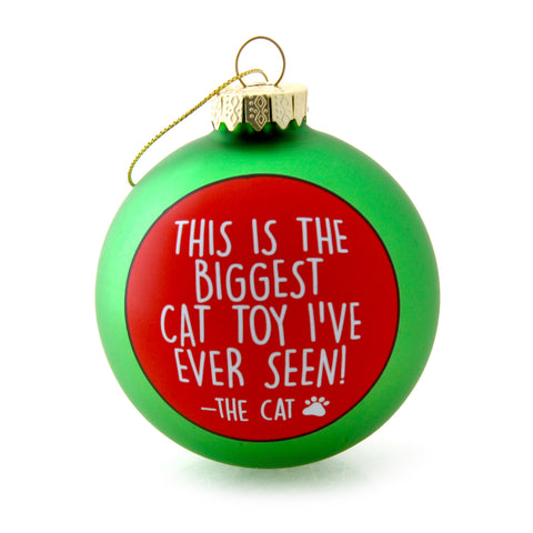 Cat Toy Christmas Ornament