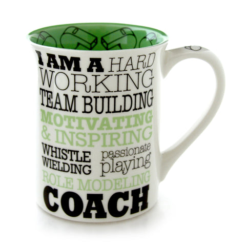 Coach Typography Occupation Mug