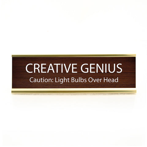 Creative Genius Desk Plaque
