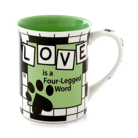 Crossword Dog Mug