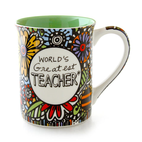 Cuppadoodle Worlds Greatest Teacher Mug