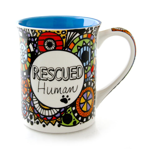Cuppadoodle Rescued Human Mug