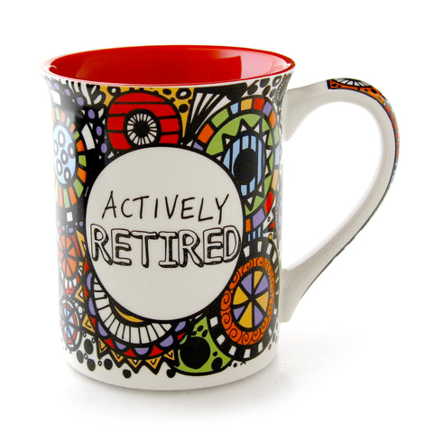 Cuppadoodle Actively Retired  Mug