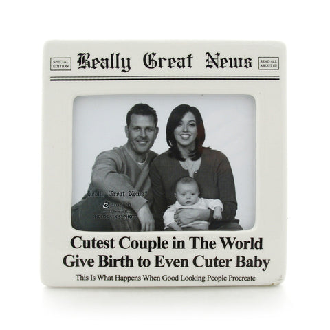 Cutest Couple Photo Frame - Really Great News