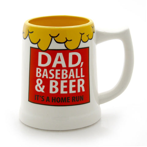 Dad Baseball Beer Stein