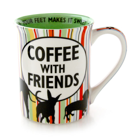 Dog Hair and Coffee With Friends Mug