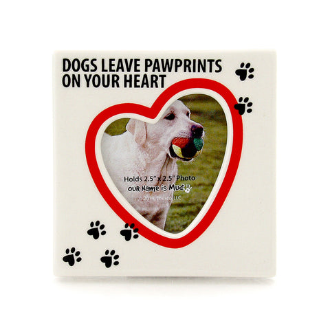 Dog Paw Prints Photo Frame