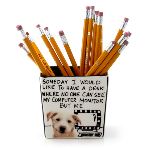 Dog Pencil Holder - Hoots N' Howlers