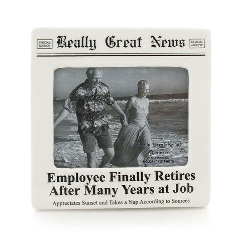 Employee Finally Retires Photo Frame - Really Great News