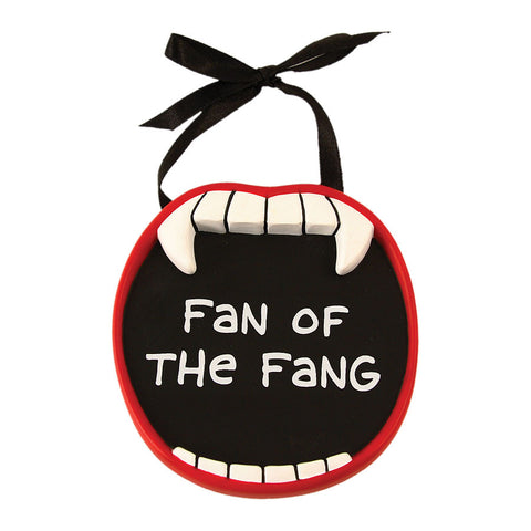Fan of the Fang Vampire Mini Plaque