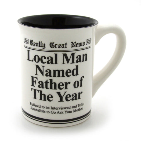 Father Of The Year Mug - Really Great News