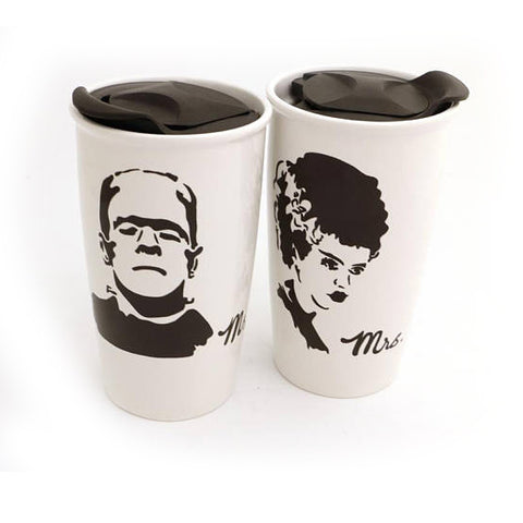 Mr. and Mrs. Frankenstein Travel Mug Set