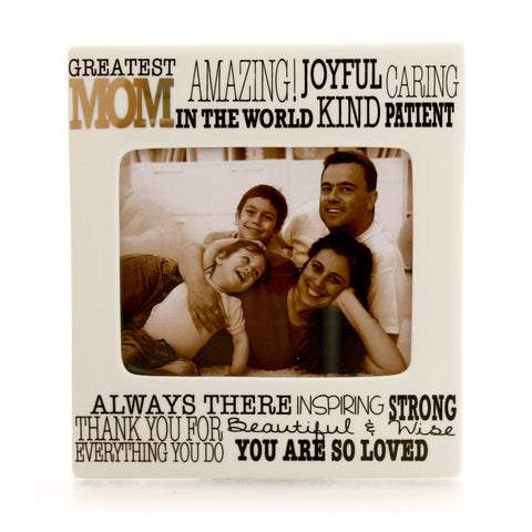 Greatest Mom Gold Frame