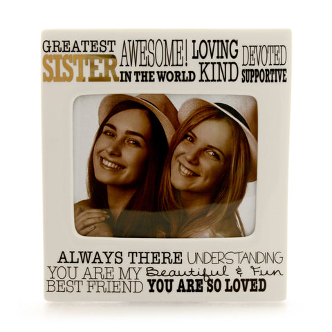 Greatest Sister Gold Frame
