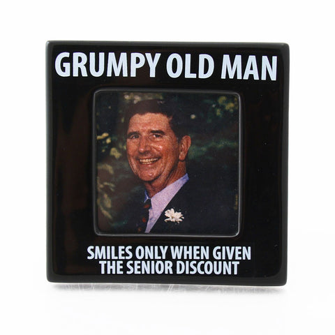 Grumpy Old Man Photo Frame