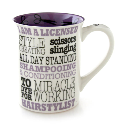Hairstylist Typography Occupation Mug