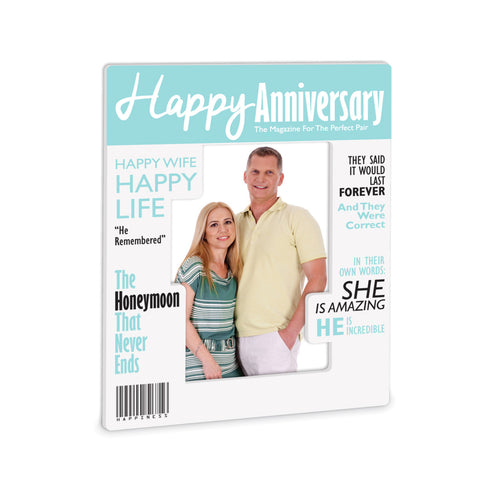 Happy Anniversary Magazine Frame