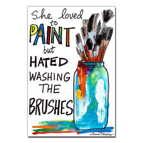 She Hated Washing Brushes Print
