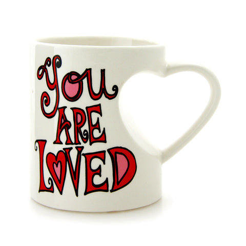 You Are Loved Heart Handle Mug