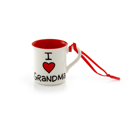 I Heart Grandma Ornament
