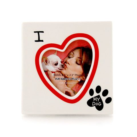 I Heart My Dog Photo Frame