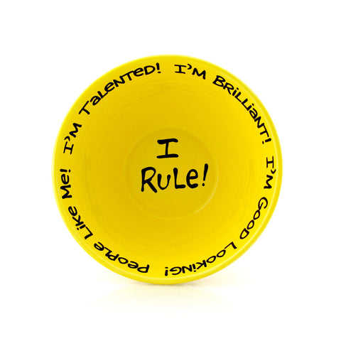 I Rule - Big Bowl Of Self Esteem Yellow - Available only at LennyMud.com