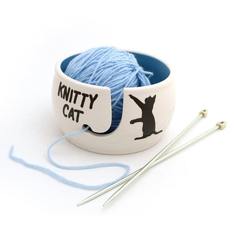 Knitty Cat Yarn Bowl