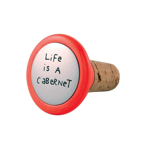 Life/Cabernet Wine Stopper