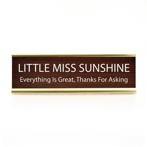 Little Miss Sunshine Desk Plaque