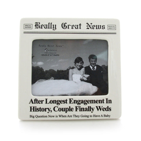Longest Engagement Photo Frame - Really Great News