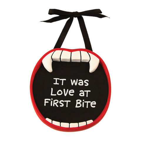 Love at First Bite Vampire Mini Plaque