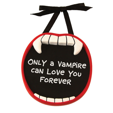 Love you Forever Vampire Mini Plaque
