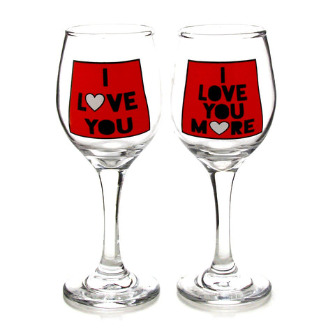 Love You Glassware Set