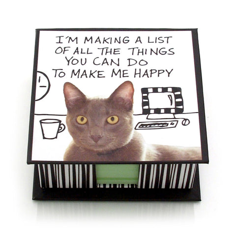 Make Me Happy Memo Holder - Hoots N' Howlers