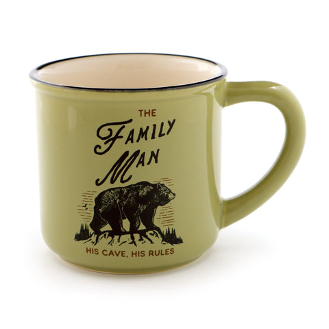 Man Cave Family Man Bear Mug