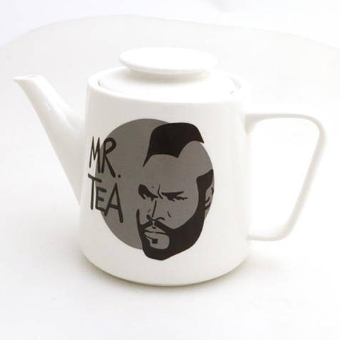 Mr. T Teapot with Grey Circle
