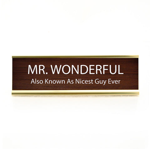 Mr. Wonderful Desk Plaque